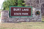 Burt Lake State Park Stone Entrance Sign