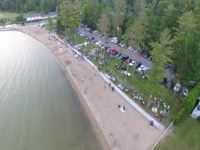 Aerial Photo of DeVoe Beach showing Indian River and picnic area